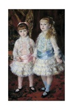 Pink and Blue or Portrait of the Demoiselles Cahen D'anvers by Pierre Auguste Renoir Lámina giclée