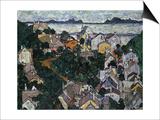 Summer Landscape; Sommerlandschaft, 1917 Affiches par Egon Schiele