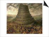 Der Turmbau Zu Babel Poster von Tobias Verhaecht