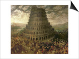 The Tower of Babel Print by Tobias Verhaecht