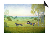 Walking the Dog Prints by  Ditz