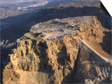 Aerial View of the Masada Plateau Poster