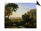 A Sunset or Landscape with Argus Guarding Io Prints by Claude Lorrain