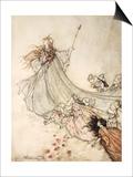 ..Fairies Away! We Shall Chide Downright, If I Longer Stay Pósters por Arthur Rackham