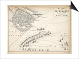 Map of the Battle of Copenhagen, Published by William Blackwood and Sons, Edinburgh and London, Prints by Alexander Keith Johnston