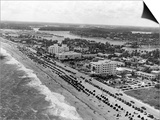 Aerial View of Fort Lauderdale Beach, 1950 Posters