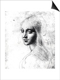 Study for an Angel in the Virgin of the Rocks Prints by  Leonardo da Vinci