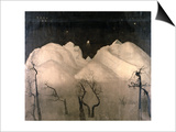 Winter Night in the Mountains, 1901-02 Prints by Harald Oscar Sohlberg
