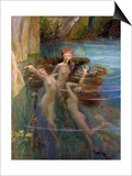 Water Nymphs, 1927 Posters by Gaston Bussiere