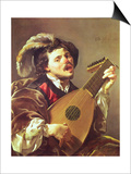 The Lute Player, 1624 Prints by Hendrick Terbrugghen