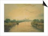 On the River Ouse Prints by J. M. W. Turner
