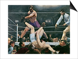 Dempsey v. Firpo in New York City, 1923, 1924 Prints by George Wesley Bellows