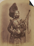 Piper David Muir, 42nd Highlanders Prints by  Joseph Cundall and Robert Howlett