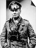 Field Marshal Erwin Rommel, Commander of Army B Group under Von Rundstedt Poster by  German photographer
