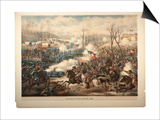 Battle of Pea Ridge, Ark, 1889 Prints by  Kurz And Allison