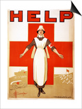 Help, 1918 Posters by D. H. Souter