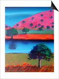 Pink Hill 2 Prints by Paul Powis