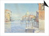 The Gran Canal, Venice, with the Santa Maria Della Salute, 1910 Affischer av Gunnar Widforss