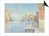 The Gran Canal, Venice, with the Santa Maria Della Salute, 1910 Prints by Gunnar Widforss
