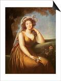 Comtesse Du Barry, Holding a Rose Affiches par Elisabeth Louise Vigee-LeBrun