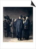 The Lawyers, 1870-75 Pósters por Honore Daumier