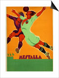 Advertisement for a Match Between Valencia and an English Team at the Mesta Posters par  Spanish School