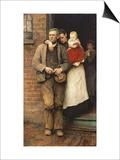 On Strike, circa 1891 Kunstdrucke von Hubert von Herkomer