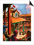Shakespeare Performing at the Globe Theatre Prints by Peter Jackson