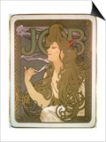 Poster Advertising 'Job' Cigarette Papers, 1896 Poster by Alphonse Marie Mucha