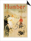 Poster Advertising 'Humber' Bicycles, 1900 Prints by Maurice Deville