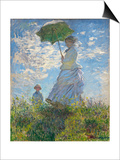 Woman with a Parasol - Madame Monet and Her Son, 1875 Posters by Claude Monet
