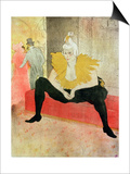 La Clowness Looks Around, Madamoiselle Cha-U-Kao Láminas por Henri de Toulouse-Lautrec