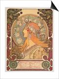 Zodiac, 1896 Art by Alphonse Mucha