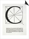 C, Illustration from 'Divina Proportione' by Luca Pacioli (C.1445-1517), Originally Pub. Venice, Prints by  Leonardo da Vinci