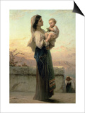 Madonna and Child Prints by Adolphe Jourdan