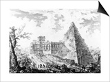 View of the Pyramid of Caius Cestius, from the 'Views of Rome' Series, C.1760 Posters by Giovanni Battista Piranesi