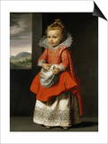Portrait of the Artist's Daughter, Magdalena De Vos, C.1623-24 Poster by Cornelis de Vos