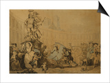 Place Victoire a Paris, 1784 Prints by Thomas Rowlandson