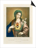 The Sacred Heart of Mary, Published by Fr. Wentzel, Weissenburg, 1850 Art by German School