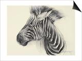 Baby Zebra, 2000 Poster by Odile Kidd