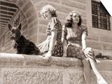 Eva Braun with Her Sister Gretl, 1943 Prints by  German photographer