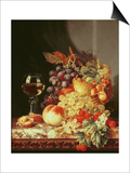 Still Life with Grapes and Wine Prints by Edward Ladell
