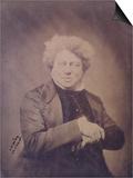 Portrait of Alexandre Dumas Pere (1803-70) C.1850-60 Prints by Gaspard Felix Tournachon Nadar
