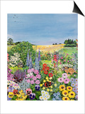 Summer from the Four Seasons (One of a Set of Four) Prints by Hilary Jones