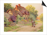 After the Shower: Man with a Scythe Prints by Arthur Claude Strachan