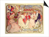 Poster Advertising 'Amants', a Comedy at the Theatre De La Renaissance, 1896 Posters by Alphonse Mucha