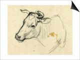 Cow, 1940s Posters by Natalia Aleksandrovna Gippius