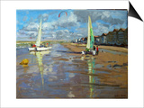 Reflection, Bray Dunes, France Print by Andrew Macara