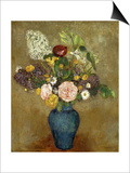 Vase of Flowers; Vase De Fleurs Prints by Odilon Redon