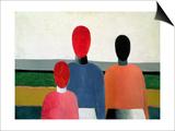 Three Female Figures, 1928-32 Poster af Kasimir Malevich